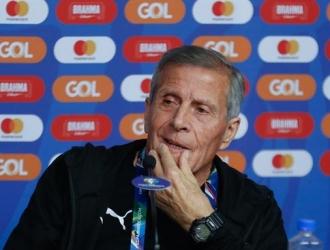 Tabárez se mostró satisfecho con sus pupilos | Foto: EFE