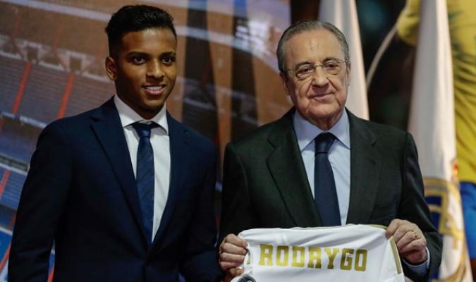 Rodrygo ofreció sus primeras palabras como merengue/ Foto AP