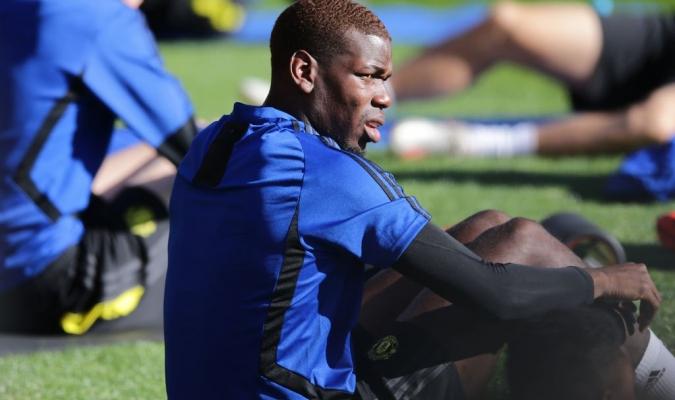 Pogba ya se entrena con el United / Foto: Cortesía