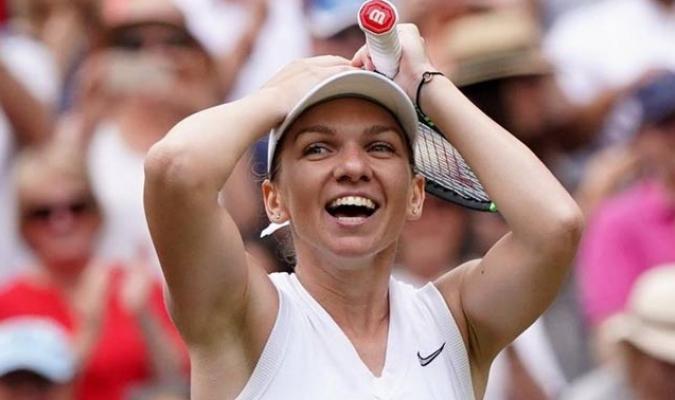 La rumana celebró ante Serena Williams