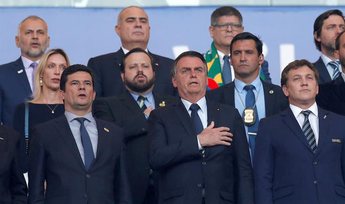 El mandatario asistió a la final de la Copa América / Foto: EFE