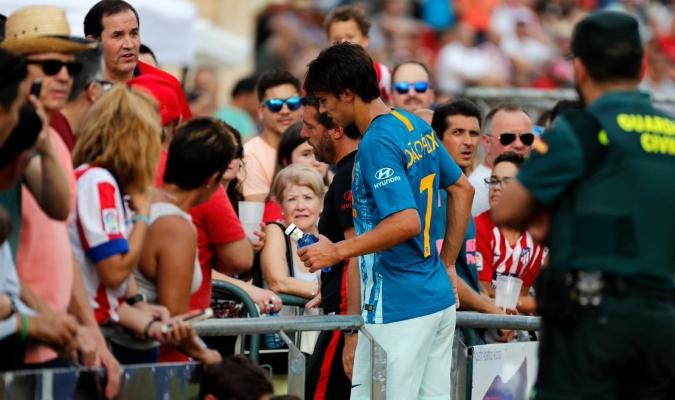 Félix salió lesionado en el duelo ante Numancia / Foto: Cortesía