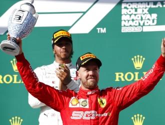 Vettel culminó tercero en el GP de Hungría / Foto: AP