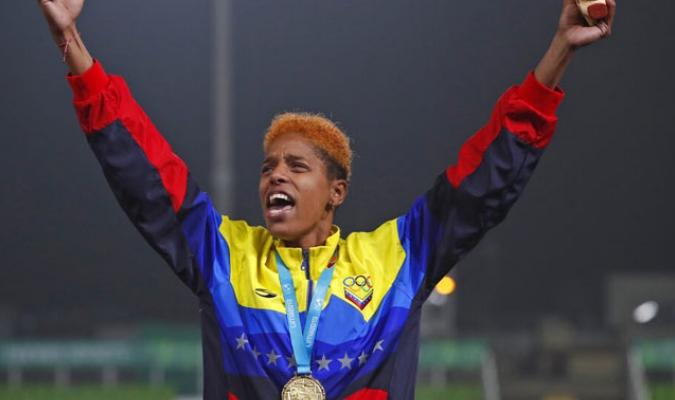 Yulimar fue una de las figuras de estos Juegos Panamericanos que no decepcionó / Foto: AP