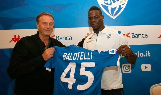 Balotelli fue presentado con el Brescia / Foto: Cortesía