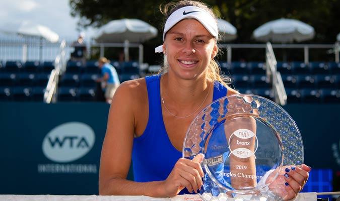 Linette consiguió el torneo en Bronx / Foto: Cortesía