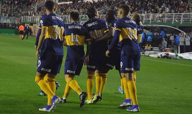 Jugadores del Boca Juniors celebran la victoria / Foto: Cortesía