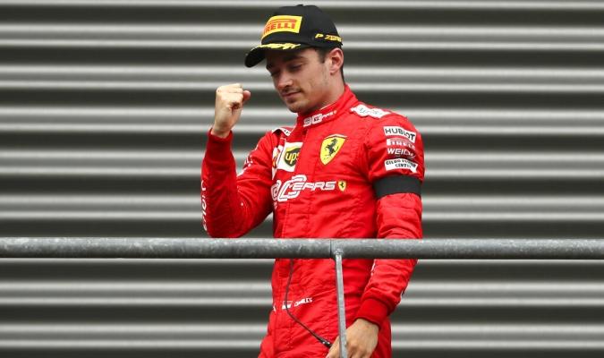 Leclerc ganó su primer GP / Foto: AP