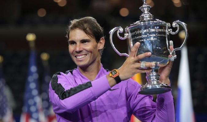 El español obtuvo su cuarto trofeo en el Abierto de Estados Unidos y el decimonoveno Grand Slam de su carrera/ Foto AP