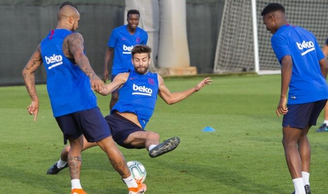 Messi y Suárez aún no se incorporan a las prácticas / Foto: Cortesía (@FCBarcelona)