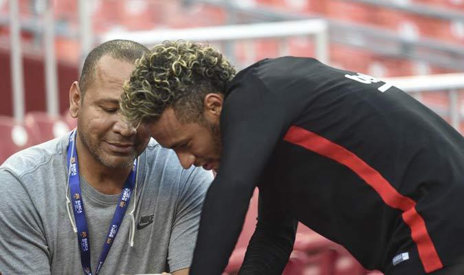 Neymar Jr. y su padre / Foto: Cortesía