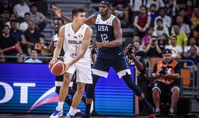 Serbia dominó a un inconsistente EEUU / Foto: Cortesía FIBA