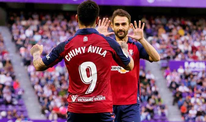 jugadores de OSasuna celebran el gol / Foto: EFE