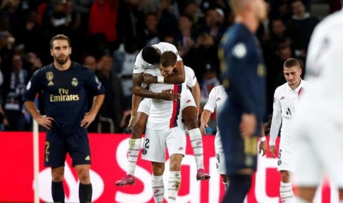 El Madrid cayó 3-0 ante PSG / Foto: EFE
