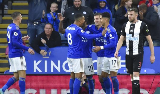 Leicester goleó a placer a las