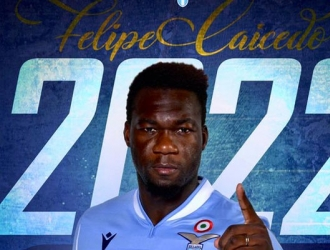 Caicedo estará en la Lazio hasta el 2022/ Foto @OfficialSSLazio