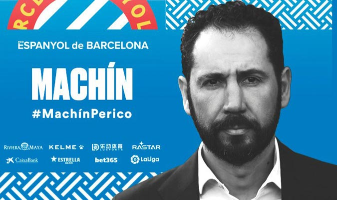 Machín firma hasta el 2021/ Foto @RCDEspanyol