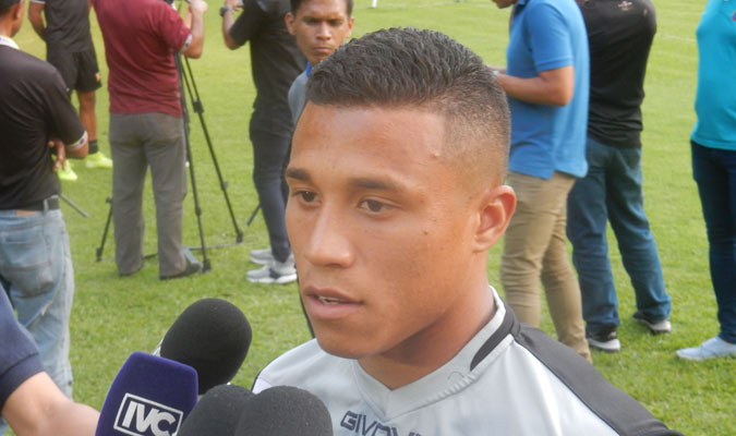 El jugador declaró en zona mixta || Foto: Carlos Chacón