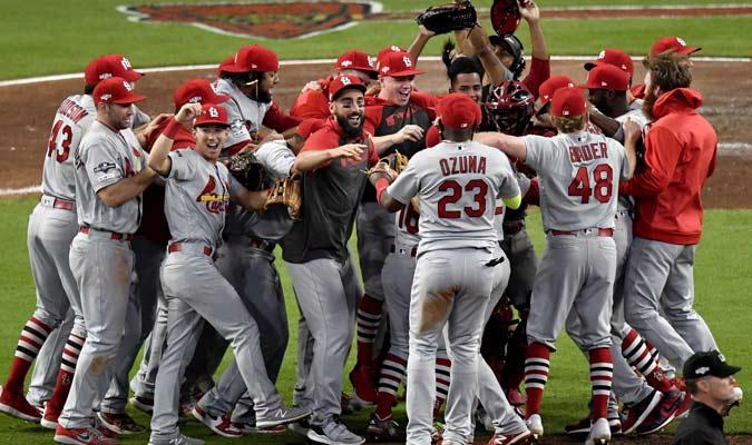 El cuadro de San Luis celebró por el triunfo / Foto: AP