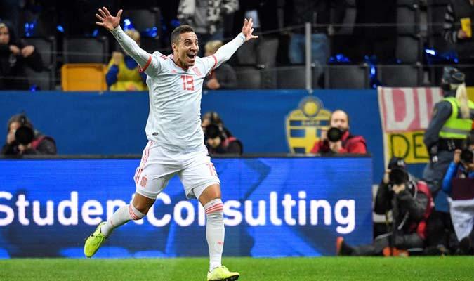 El ariete le dio la victoria a España / Foto: EFE
