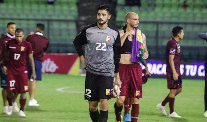 El golero jugó ante Trinidad y Tobago    Foto: Simón Bardinet