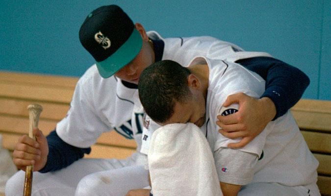 Alex Rodríguez junto a Joey Cora en el dogout / Foto: AP