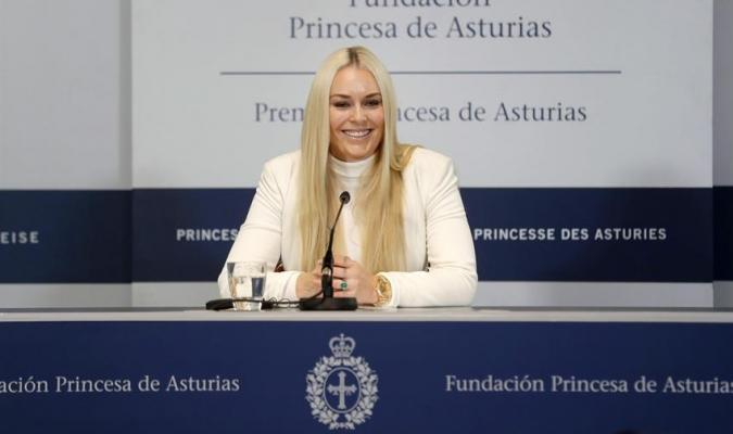 Vonn fue galardonada en España / Foto: EFE