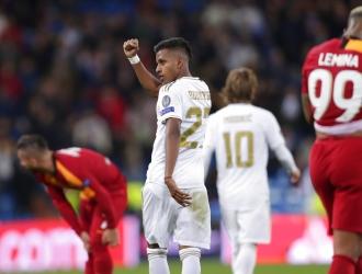 Rodrygo marcó tres goles ante el Galatasaray / Foto: AP