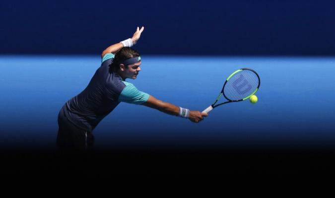 Raonic se ausentará por una lesión en la espalda /  Foto: AP