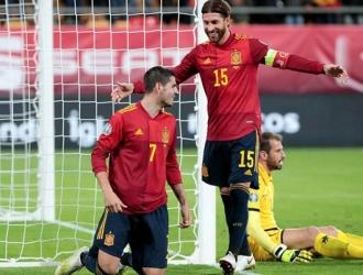 Morata marcó el primero / Foto: EFE