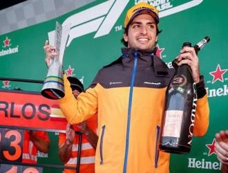 Sainz logró el podio en Brasil / Foto: EFE
