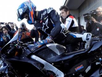 Álex Márquez debutó en Honda con una caída / Foto: Cortesía