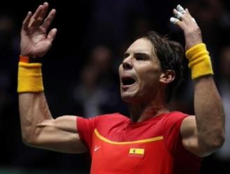 Nadal ganó su compromiso para igualar a uno ante Rusia / Foto: Cortesía