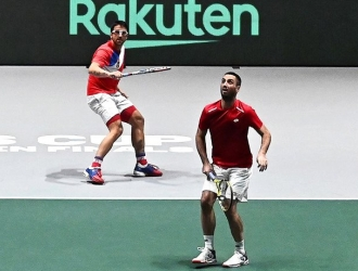 La dupla Serbia venció sus rivales japoneses / Foto: Cortesía