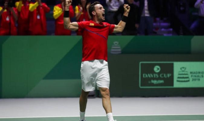 Bautista adelanta a España en la final / Foto: AP