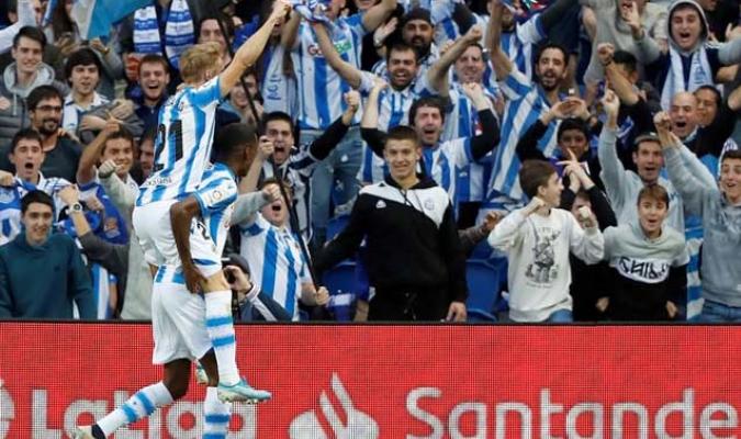 El jugador celebró su tanto / Foto: EFE