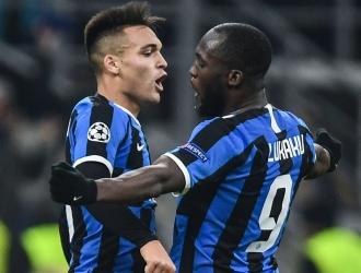 Foto: Cortesía / Lukaku y Lautaro celebran gol