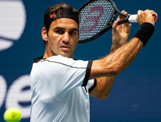 Roger Federer entrenando/ Foto Cortesía