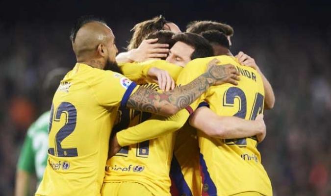 Barcelona FC remonta al Betis, para acechar al Madrid en la punta de la liga / Foto: Cortesía