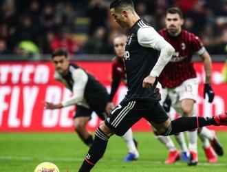 Cristiano Ronaldo empate el compromiso al minuto 90 ante el Milan / Foto: Cortesía