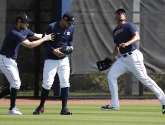 Los jugadores de Houston durante el Spring Training 2020 / Foto: AP