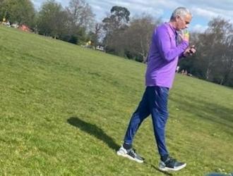 Mourinnho fue visto en un parque londinense / Foto: Cortesía