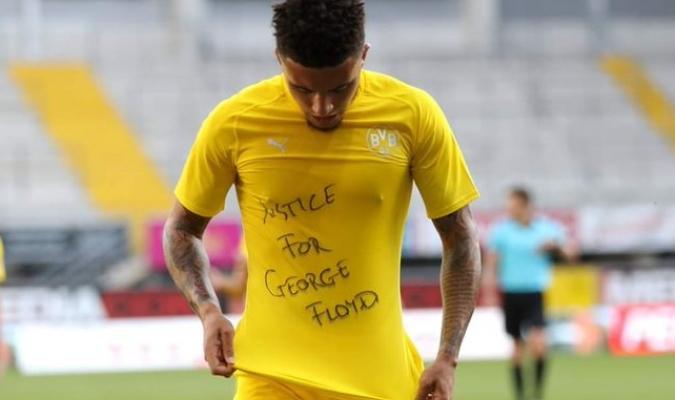 Sancho dedicó uno de sus goles a George Floyd / Foto: Cortesía