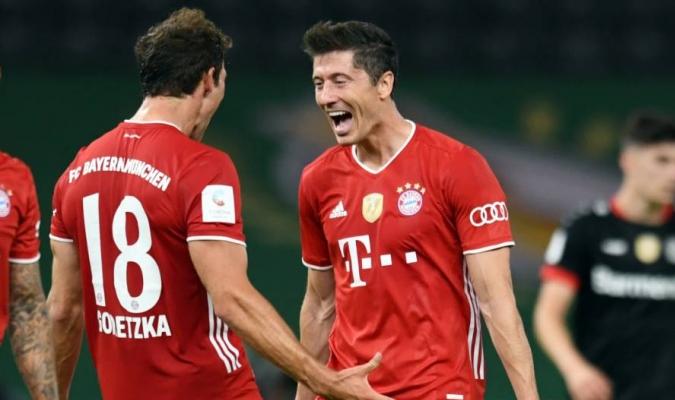 El Bayern salió con la formación acostumbrada en la parte final de la Bundesliga