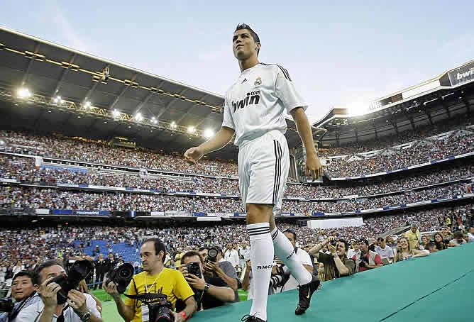 Cristiano Ronaldo en su presentación con el Real Madrid/ Foto Cortesía