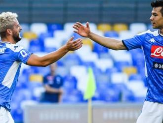 Dries Mertens marcó el primer gol de los visitantes /Foto cortesía