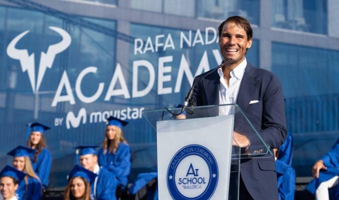 El tenista valora mucho a los estudiantes/ Foto Cortesía