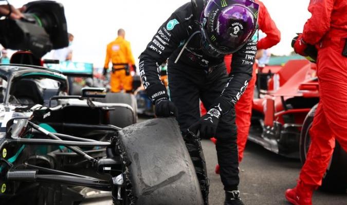 Hamilton sufrió un pinchazo en la última vuelta/ Foto Cortesía