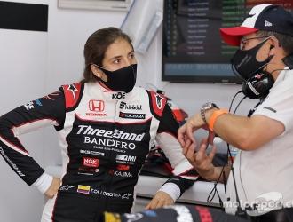 Tatiana debutó en la Súper Fórmula / foto cortesía