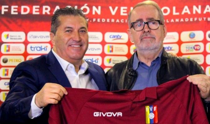 González fue quien lo presentó en febrero| Prensa Federación Venezolana de Fútbol (@FVF_Oficial)